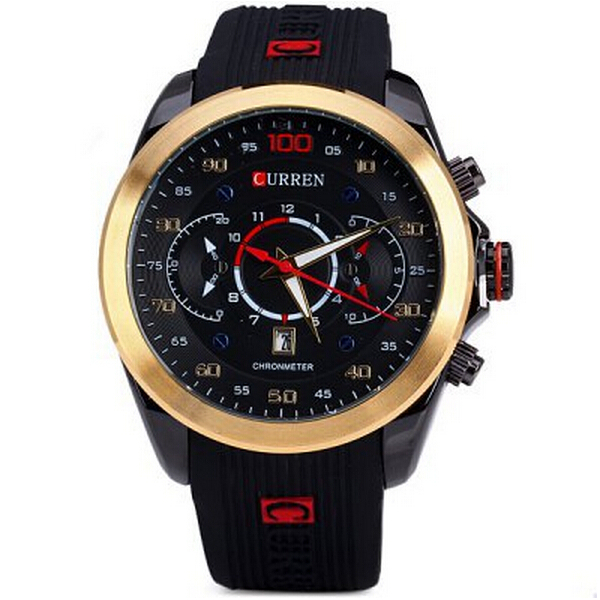 Curren 8166 watch - Gold Color